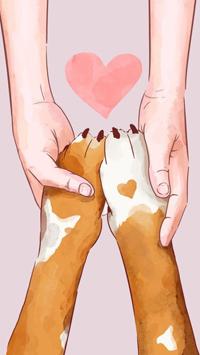 Аватар вконтакте Руки держат лапки собачки