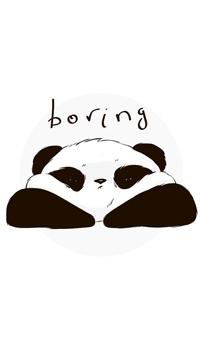 99px.ru аватар Медвежонок панда на белом фоне (boring)