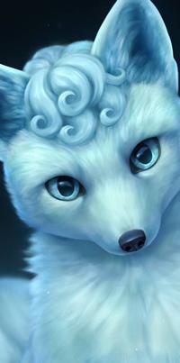 Аватар вконтакте Песец на фоне ночного неба, by Chiakiro