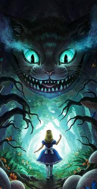 99px.ru аватар Aliсе / Алиса и Cheshire Cat / Чеширский кот из сказки Alice in Wonderland / Алиса в стране чудес, by JoJoesArt