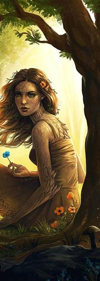 99px.ru аватар Древесная девушка у дерева, by JoJoesArt