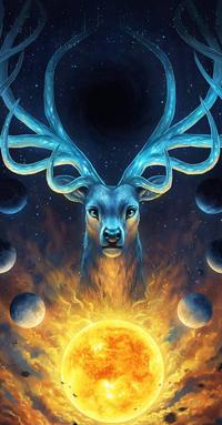 99px.ru аватар Небесный рогатый олень, by JoJoesArt