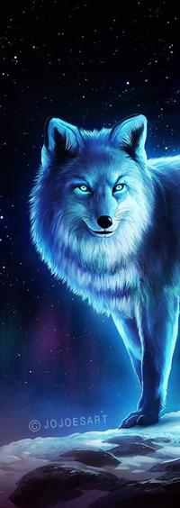 Аватар вконтакте Лисица на фоне ночного неба, by JoJoesArt