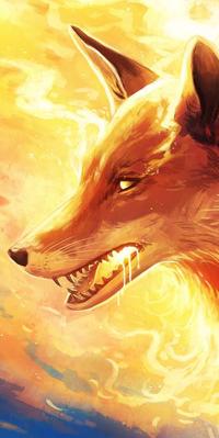 Аватар вконтакте Огненная лисица в огне, by JoJoesArt