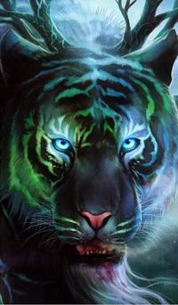 99px.ru аватар Голубоглазый тигр, by JoJoesArt