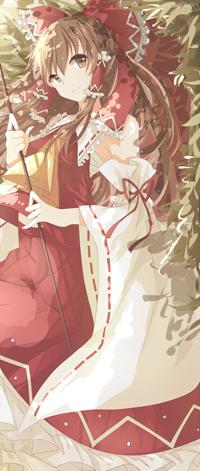 Аватар вконтакте Reimu Hakurei / Рейму Хакурей из игры Touhou / Тохо, by VeBonBon