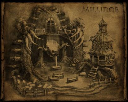 Обои Карандашный рисунок Милидора