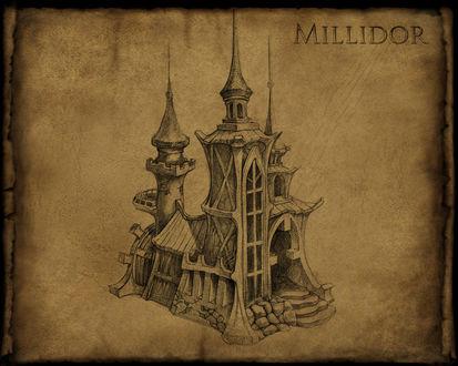 Обои Карандашный рисунок Millidor