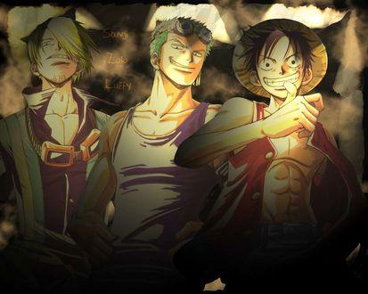 Обои Ван-Пис (Sanji, Zolo, Luffy)