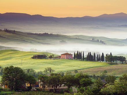 Обои Country Villa, Val dґOrcia, Tuscany, Italy