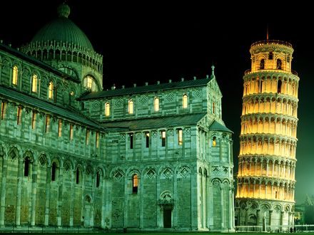 Обои Duomo and Leaning Tower, Pisa, Italy