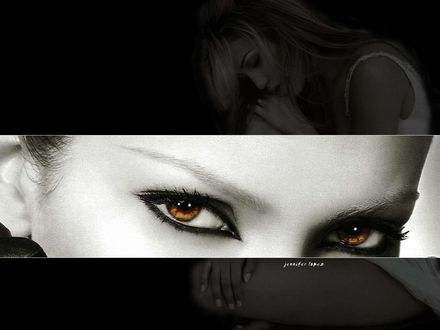 Обои Jennifer Lopes Дженифер Лопез, карие глаза