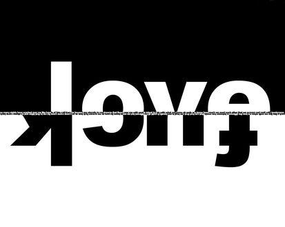 Обои Love and Fuck по середине много всяких фраз