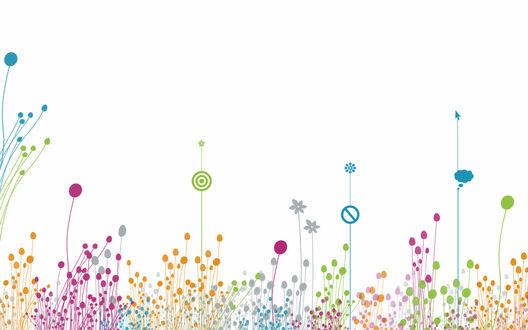 Обои Абстрактные цветные растения