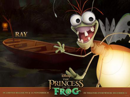 Обои the Princess and the Frog - улыбающийся жук