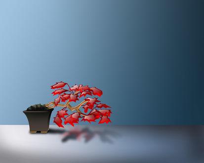 Обои Красивый цветок из стекла