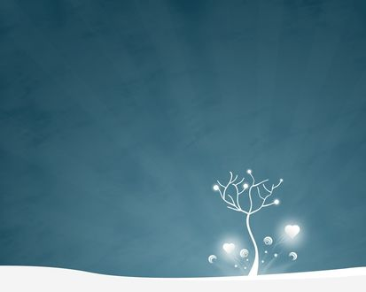 Обои Одинокое дерево