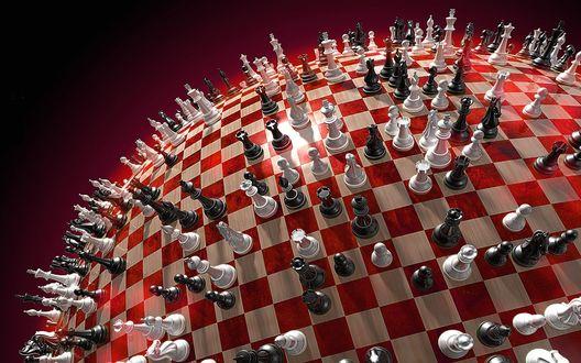 Обои Необычные шахматы