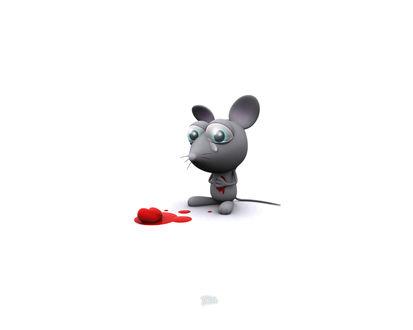 Обои Сердце мышки разорвалось от любви