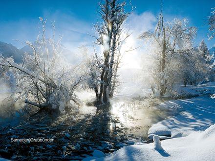 Обои Зимний пейзаж от Samedan Graubunden