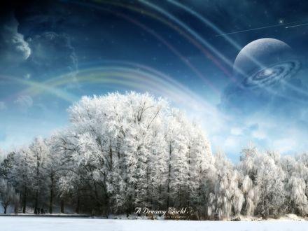 Обои Зимний пейзаж (A dreamy world)