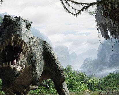 Обои Тиранозавр на охоте