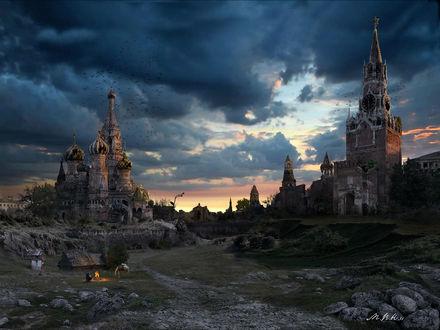 Обои Кремлёвская долина - Закат (Мир после Апокалипсиса)