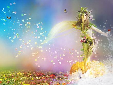 Обои Богиня весны