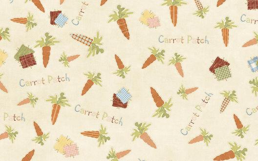 Обои Carrot Patch морковка, заплатки