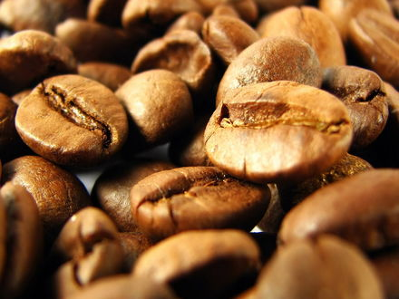 Обои <p>Кофейные зерна крупным планом</p>