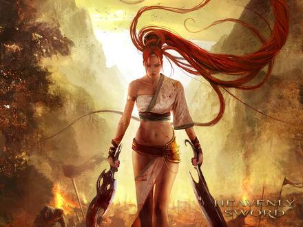 Обои Нарико главная героиня из игры Heavenly Sword