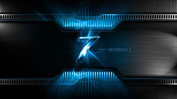 Обои Виндовоз, 7 powered by windows 7