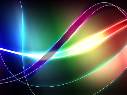 Обои цветные волны