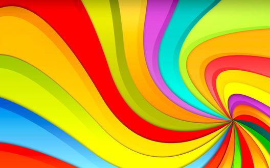 Обои Цветные полосы распространяющиеся из одной точки