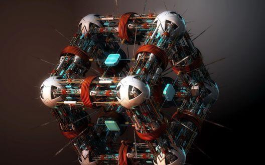 Обои Высокотехнологичный куб