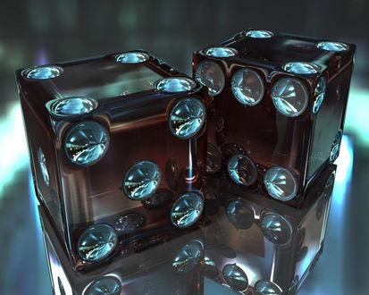 Обои Стеклянные кубики
