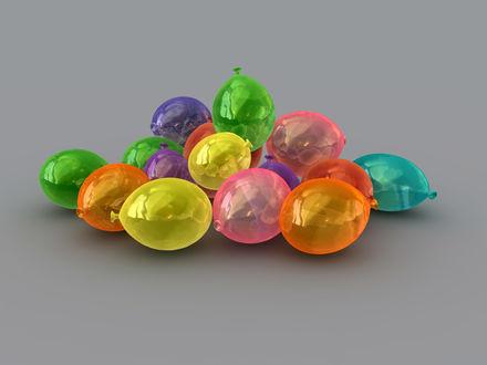 Обои Цветные шарики