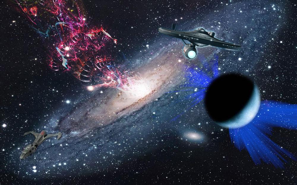 Обои для рабочего стола Звездные войны посреди космоса