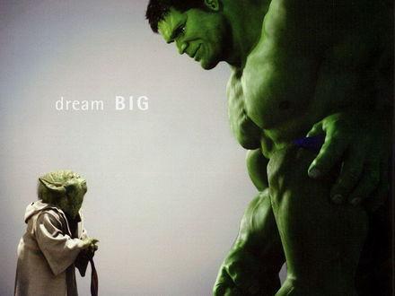 Обои dream BIG-любимые герои