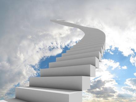 Обои Белая лестница ведет в небеса