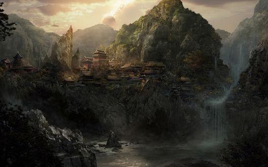 Обои Древний затерянный Китайский город