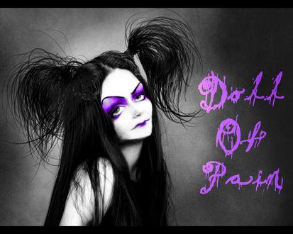Обои Мрачная лохматая девушка (Doll Of Pain)