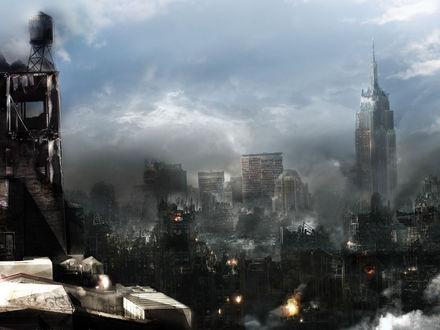 Обои Город после разрушений