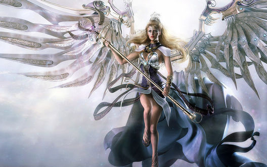 Обои Светлый воин с крыльями
