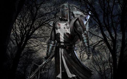 Обои Темный рыцарь средневековья