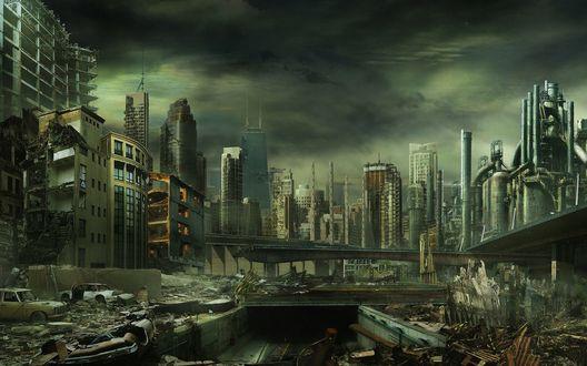 Обои Городские развалины