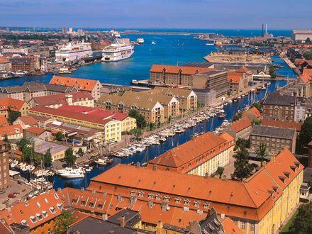 Обои Гавань Копенгагена, Дания