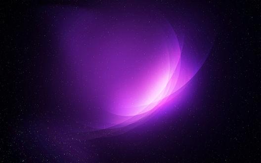 Обои Фиолетовые вспышки в космоме