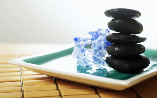 Обои Relax черные камушки