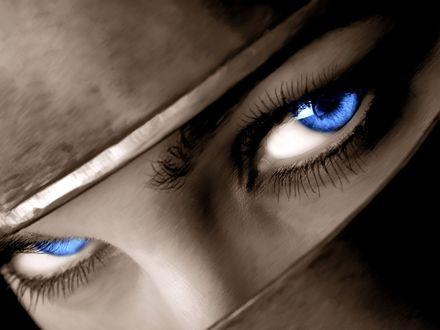 Обои Ярко-синие глаза